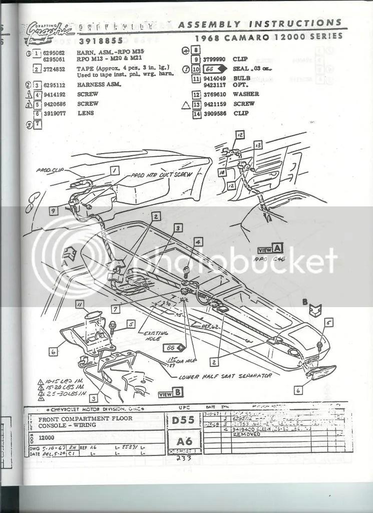1969 camaro center console wiring diagram camaro center console