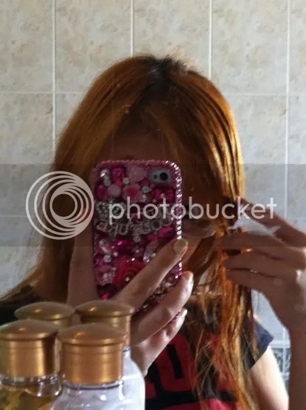 Brassy Orange Hair