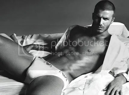 sexy david beckham with underwear