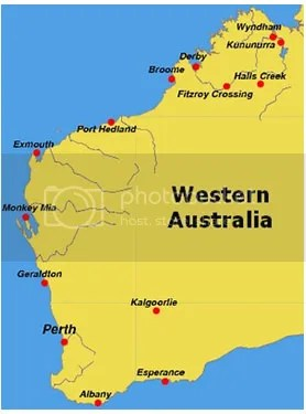 map western australia