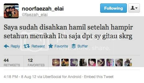 faezah elai mengandung hamil