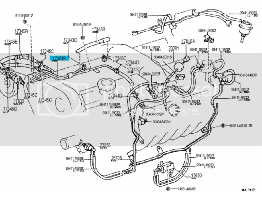 toyota supra stock Motor diagram