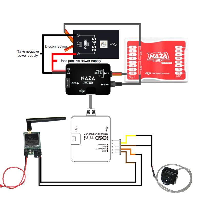 naza osd wiring diagram