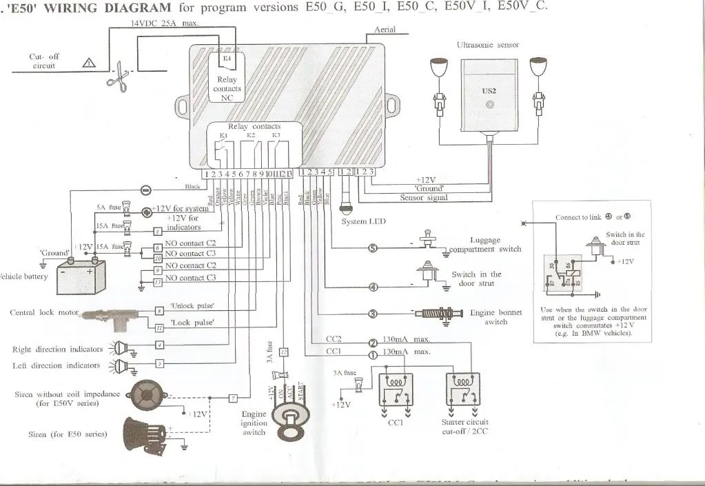 mitsubishi alarm wiring diagram