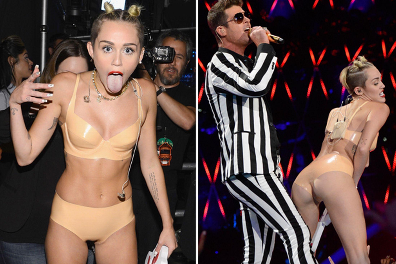 Miley Cyrus Vma 2013 Video Watch Controversial Mtv Performa