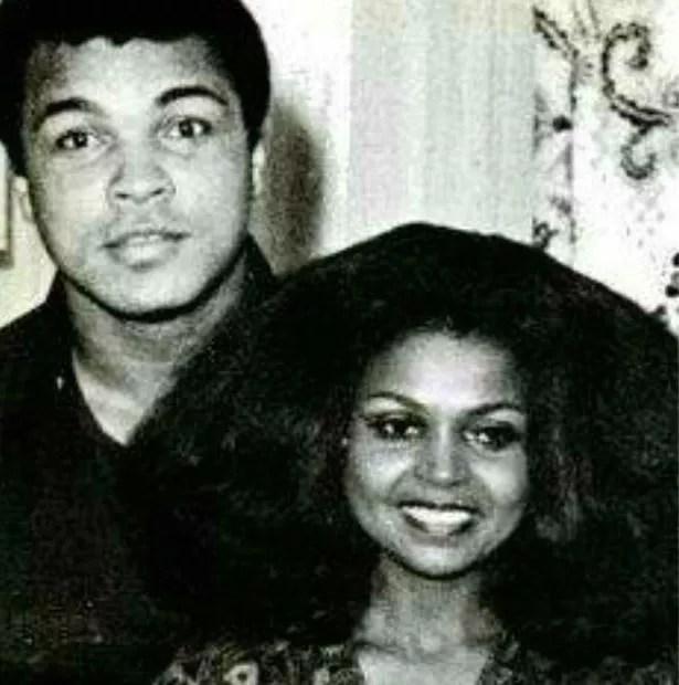 Muhammad Ali with Barbara Mensah