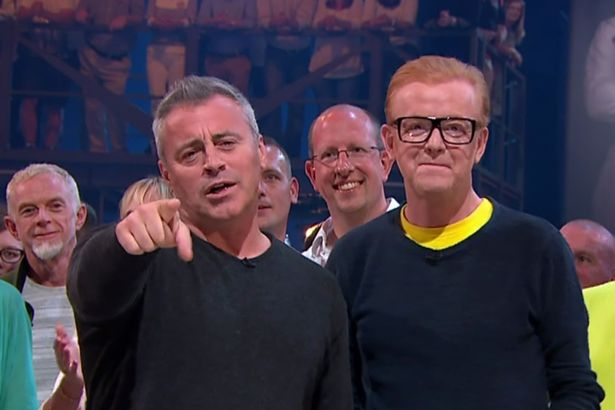Matt LeBlanc and Chris Evans presenting the fourth edition of the revamped 'Top Gear'