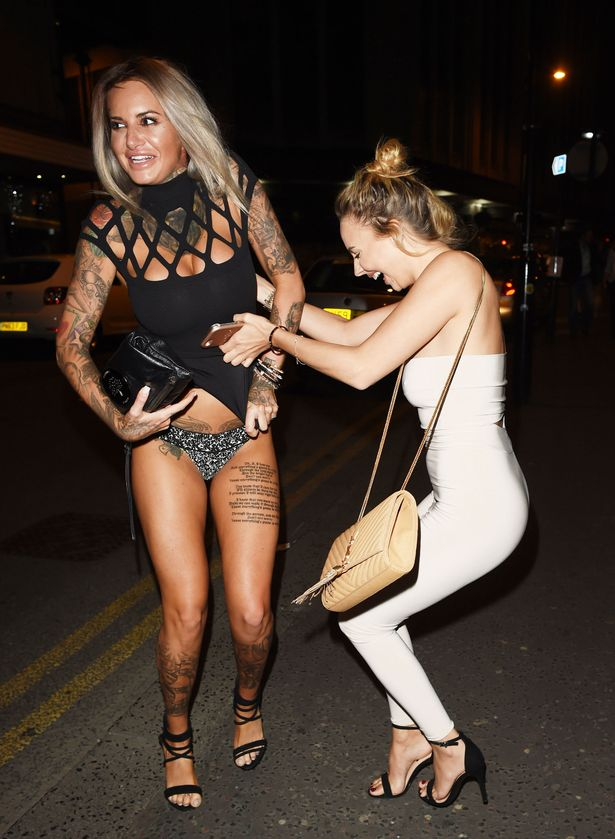 Girl Playing In Water Wallpaper Jemma Lucy Flashes Her Pants After Pal Lifts Up Her Dress