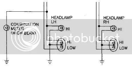 nissan 240sx headlights schema cablage