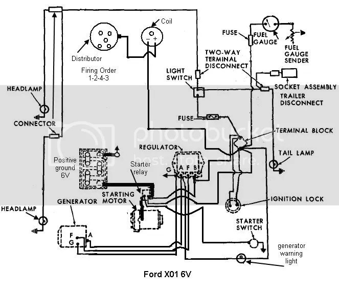 ford 6v positive ground wiring diagram