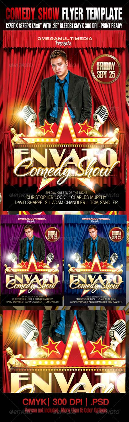 Comedy Show Flyer Template Customizable Design Templates For Talent