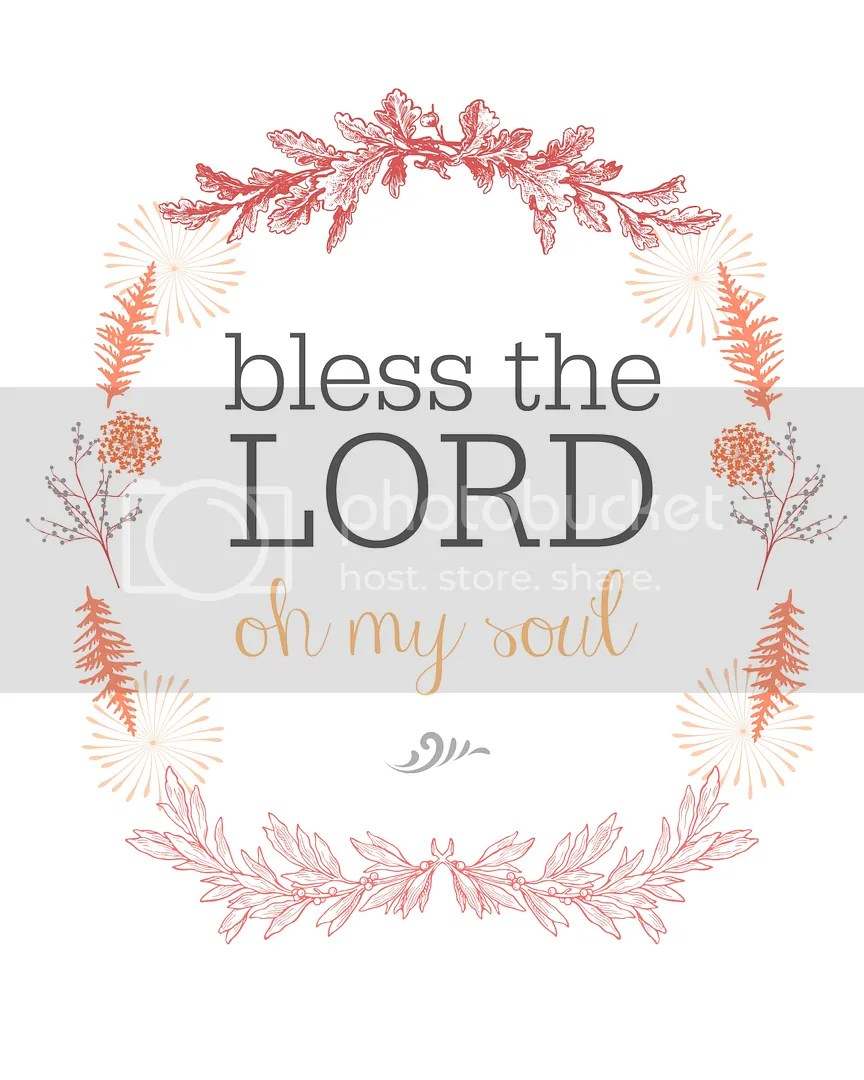 Bless The Lord Oh My Soul | Wall Art | Salt Water Blog