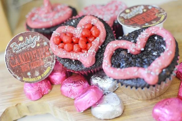 Double Chocolate Valentine Cupcakes