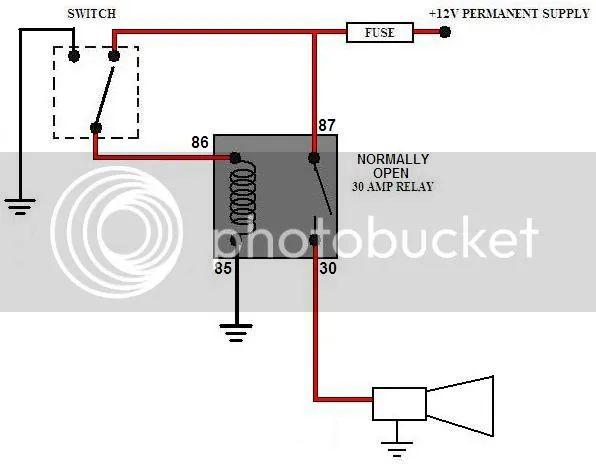 12v air horn wiring diagram
