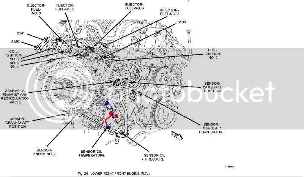 57 hemi oil diagram