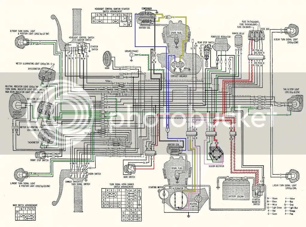 1973 cb500 wiring diagram schematic