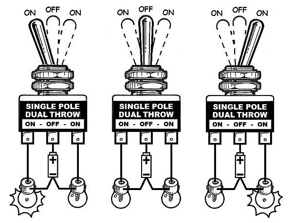 wiring diagram of a double throw switch