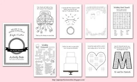 Beautiful Wedding Activity Book For Kids Template Images Template ...