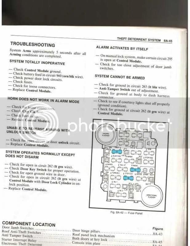 1982 Fuse Box Diagram - CorvetteForum - Chevrolet Corvette Forum