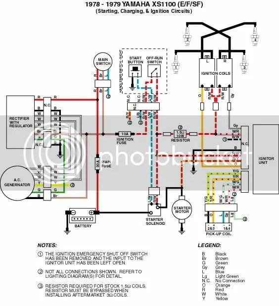 Wiring Yamaha Xs Wiring Diagram