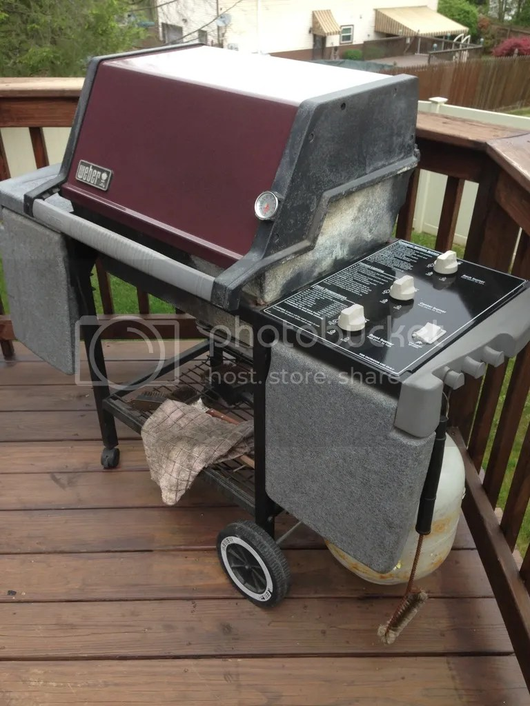 Bbq Weber Genesis Before During And After Weber Genesis Silver B
