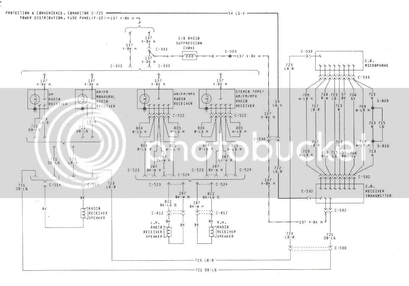 1982 radio and cb wiring diagram 1983 1986 radio diagram
