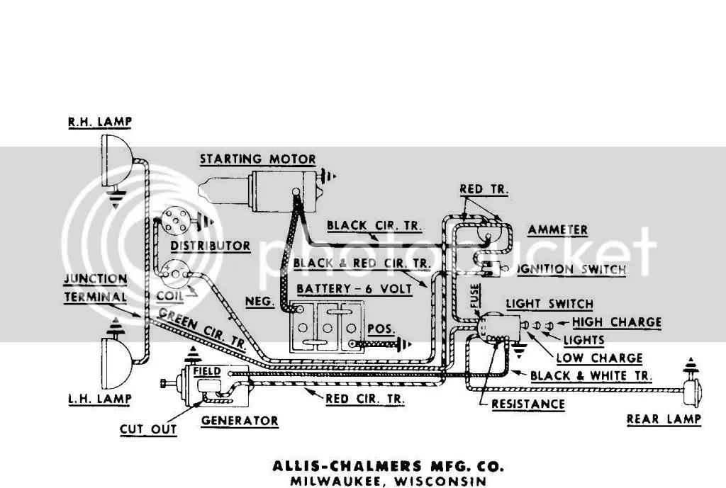 Allis Chalmers C Tractor Wiring Diagram Wiring Schematic Diagram