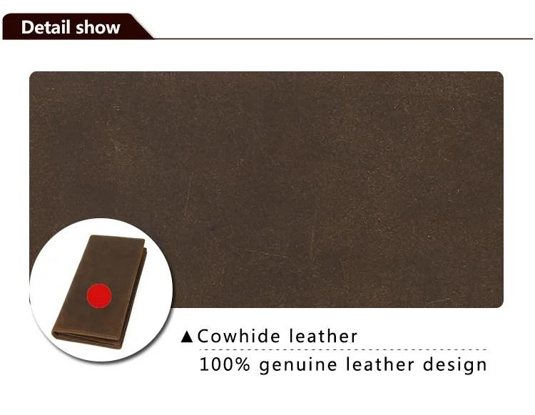 Men39s Vintage Slim Real Leather Wallet Long Purse Credit