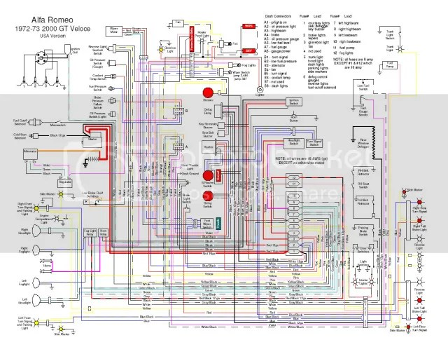 Alfa Romeo Turn Signal Wiring Diagram Schematic Diagram Electronic