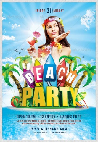 GraphicRiver Beach Party Flyer Template 4332660 » SCRiPTMAFiAORG