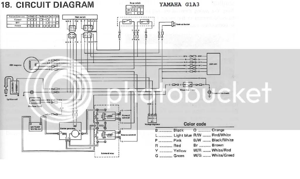 yamaha g11 wiring schematic
