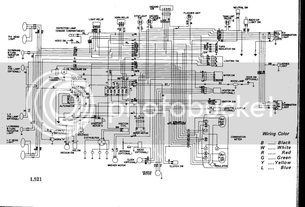 Datsun 620 Pick Up Wiring Diagram Wiring Schematic Diagram