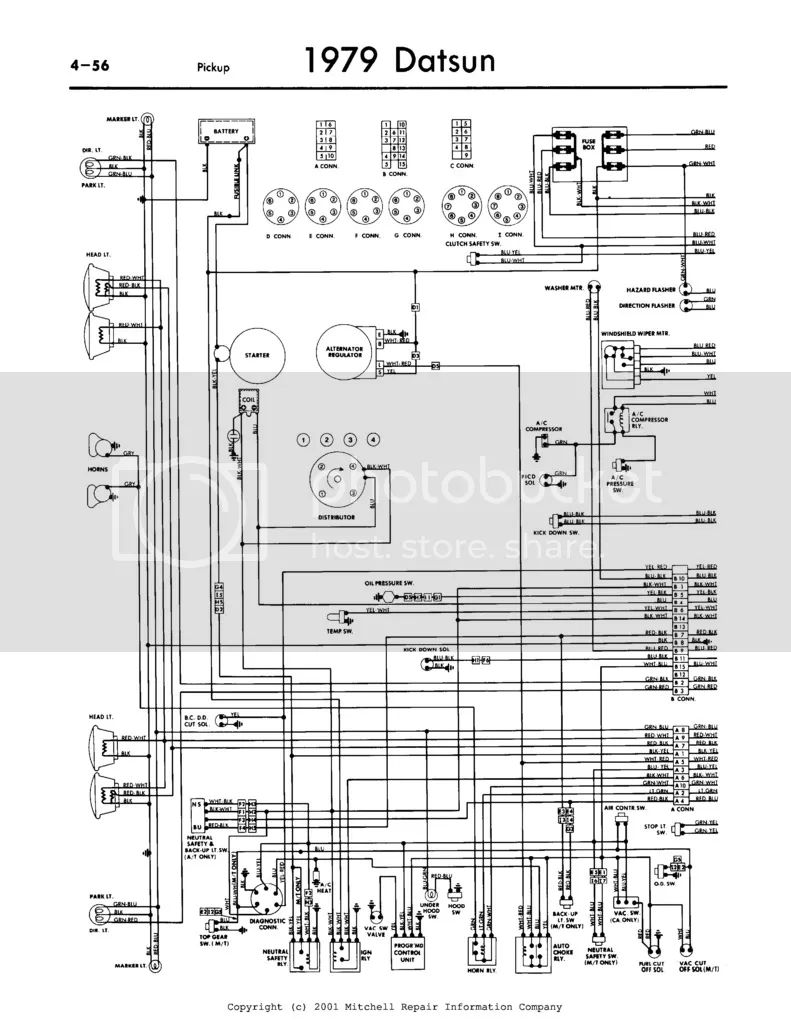 datsun 620 pickup wiring diagram