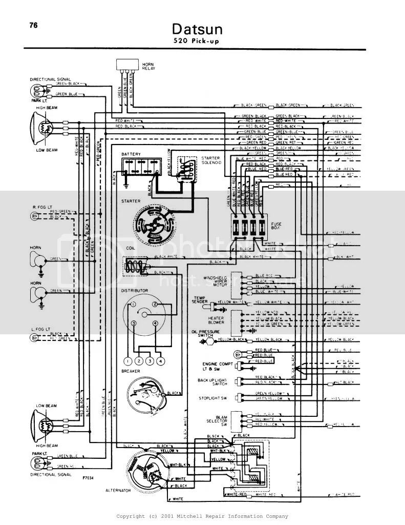 76 datsun pick up wiring schematic
