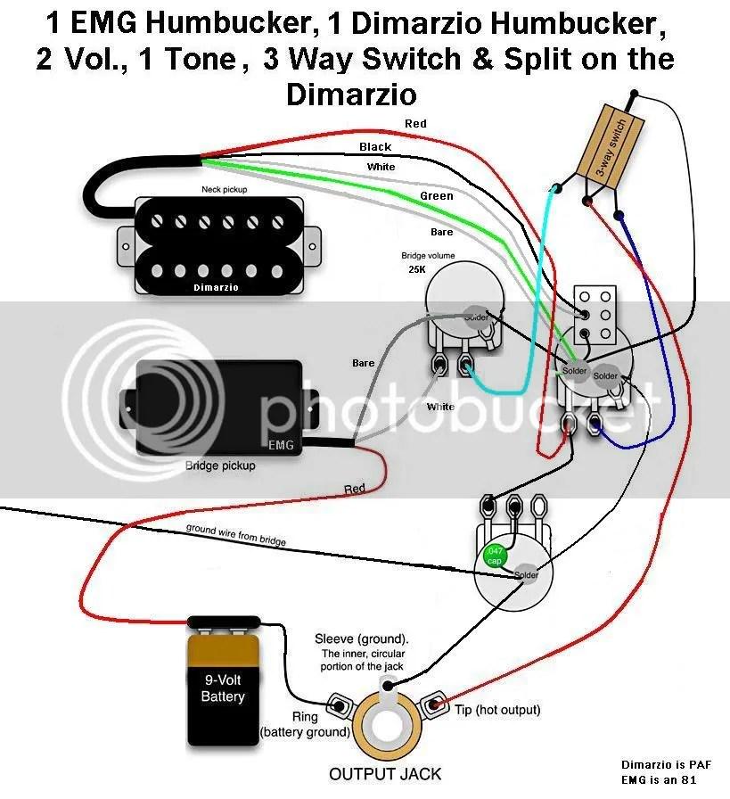 Guitar Wiring Diagrams 2 Pickups 2 Volume 1 Tone