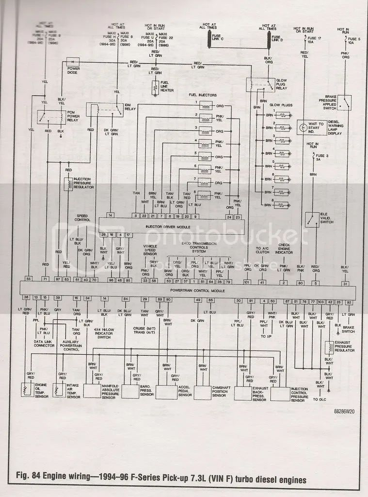 96 f250 7 3 wiring diagram