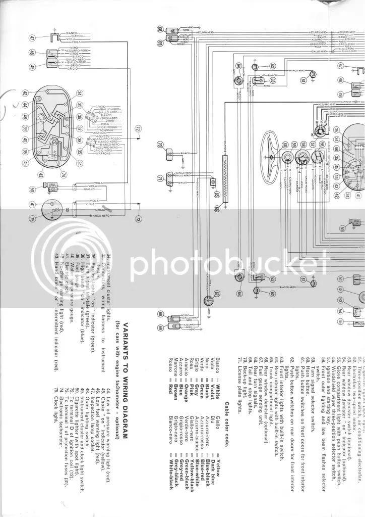 1974 fiat 124 spider wiring diagram