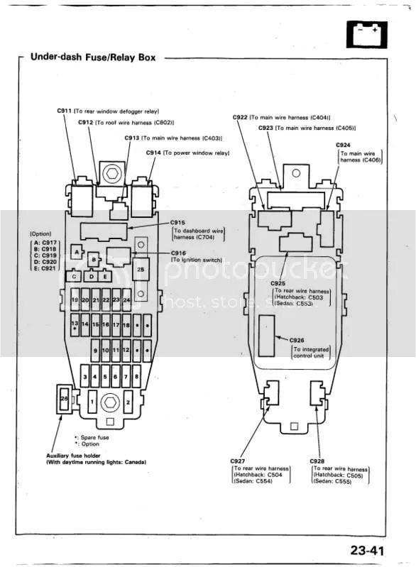 integra fuse diagram hondatech