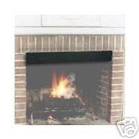 "HY-C Fireplace 4"" Black Smoke Guard Adjustable 28 1/2"" to ..."