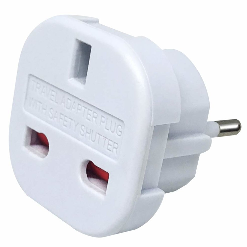 Travel Adapter Eu To Uk Pack Of 6 Upzhiji Travel Adapter Uk To Eu Euro European Adapter White Plug 2 Pin