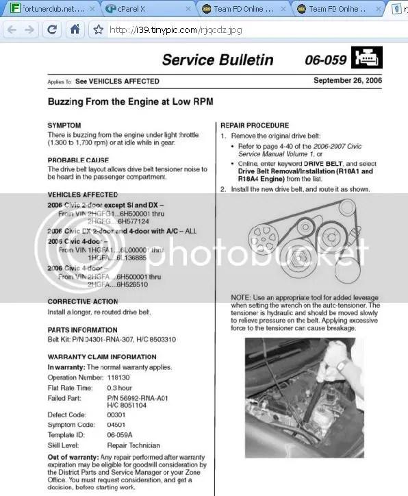 2006 Serpentine belt size problem - Honda Civic Forum