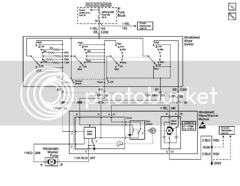 Need windshield wiper motor wiring diagram  1992-1999