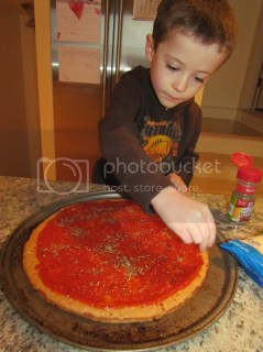 photo of a child cooking