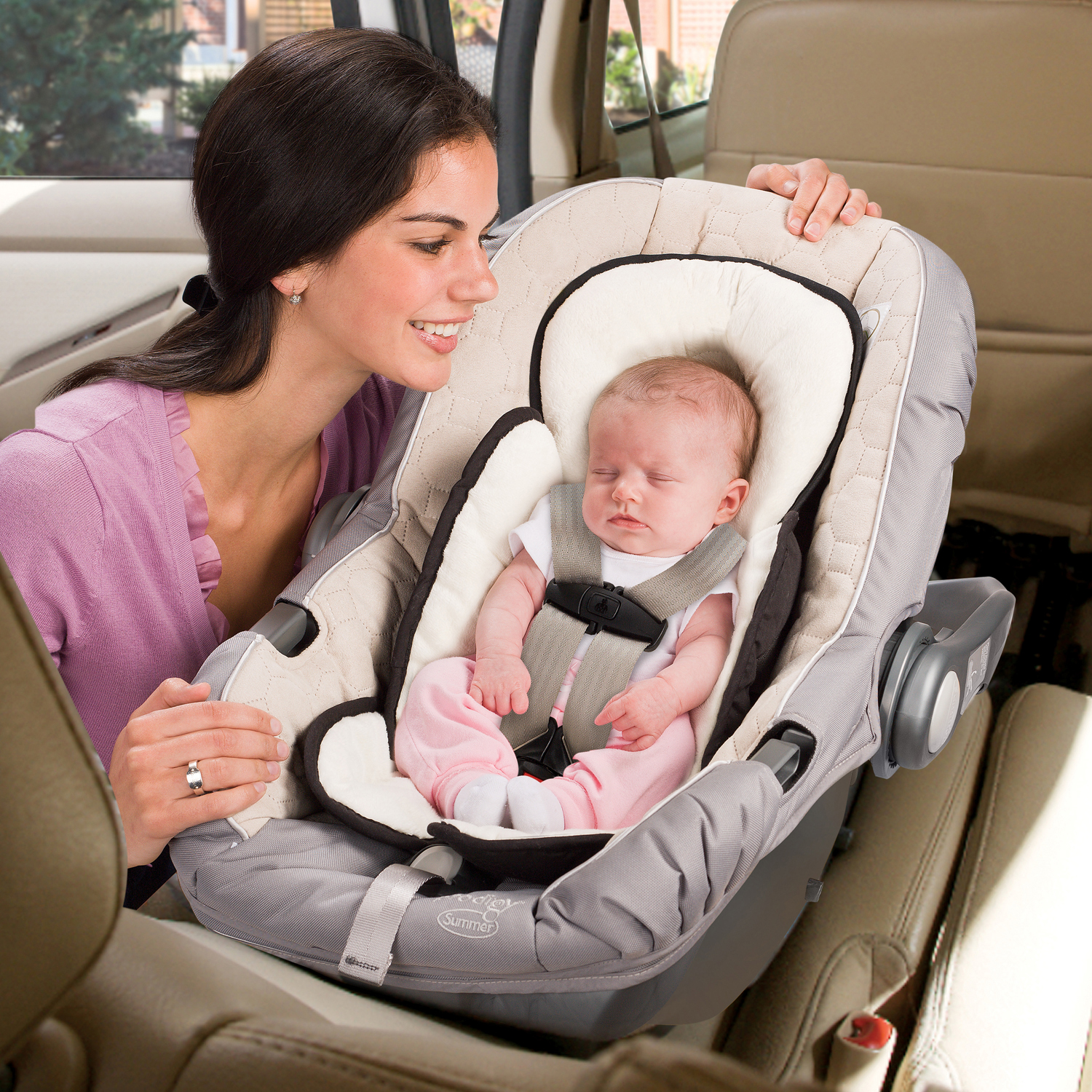 Newborn In Pram Seat Baby Head And Body Support Pillow Infant Car Seat Insert