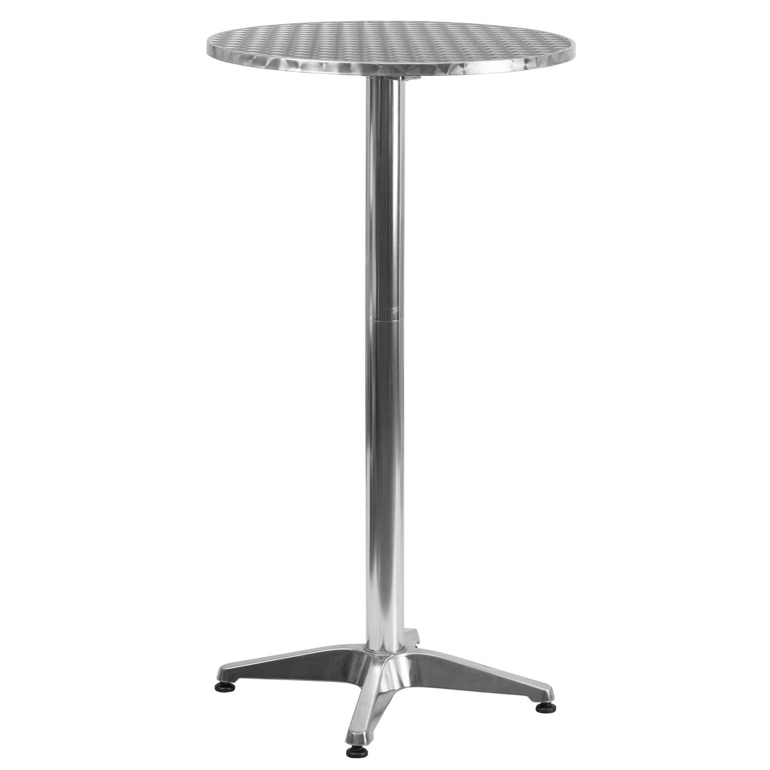 Table Aluminium Pliante Table Haute De Bar Ronde Pliante Flash Furniture De 59 06 Cm 23 25 Po En Aluminium
