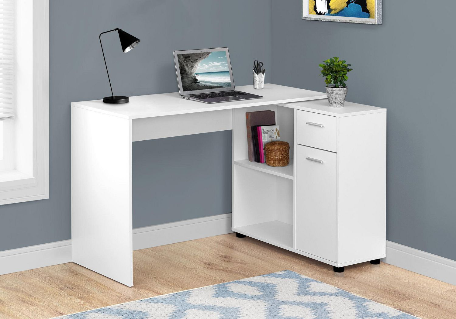 White Office Desk Monarch Specialties Inc Monarch Specialties White Office Desk