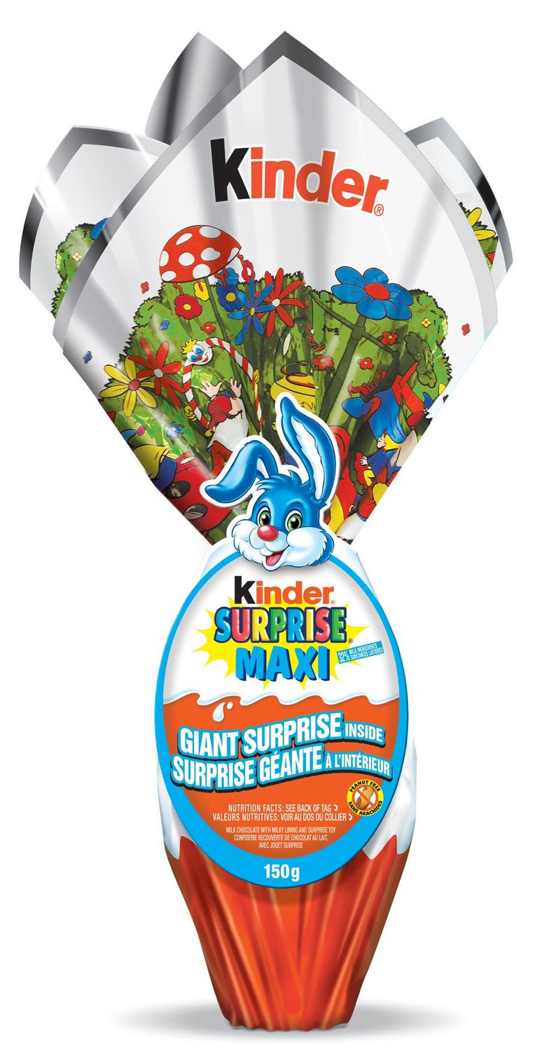 Kinder Maxi Big Pack Kinder Surprise Maxi Easter Milk Chocolate With Milky Lining Surprise Toy