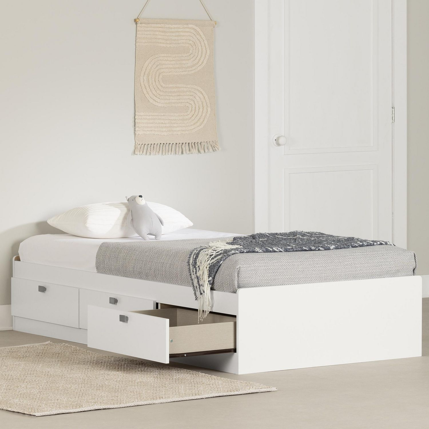 Storage Beds Edmonton South Shore Spark Collection Twin Storage Bed