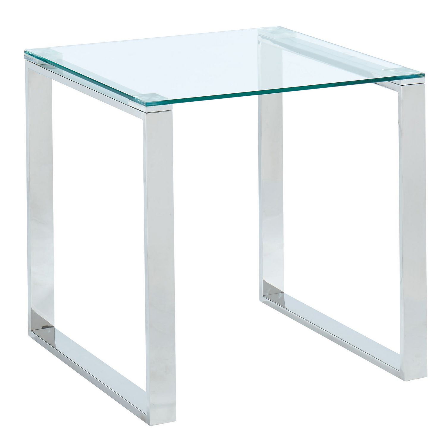 Table Appoint Verre Table D Appoint En Verre Chrome