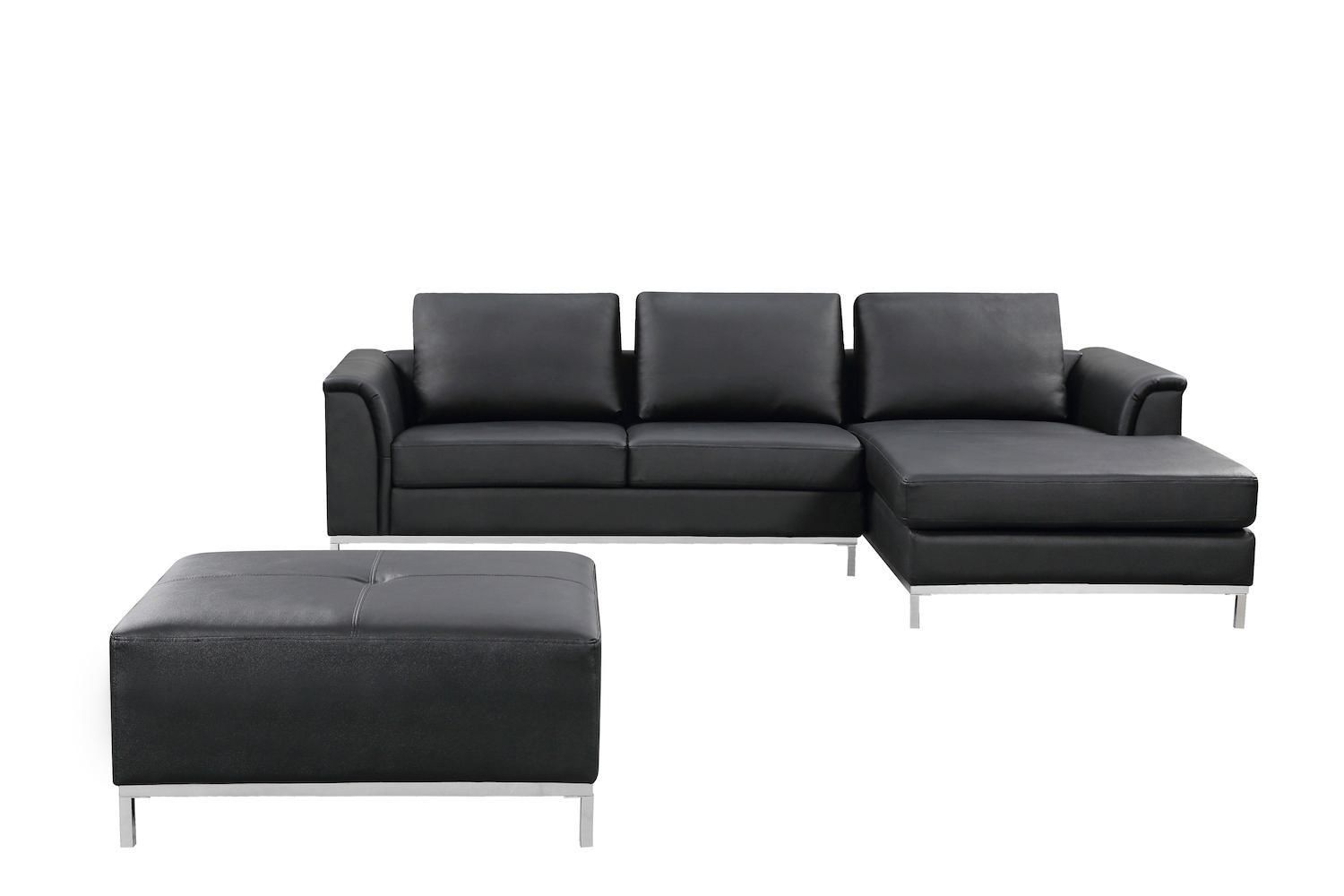 Genuine Leather Sectional Canada Velago Ollon Black Leather Sectional Sofa